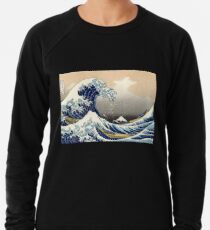 'The Great Wave Off Kanagawa' by Katsushika Hokusai (Reproduction) Lightweight Sweatshirt