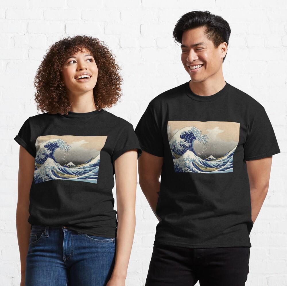 'The Great Wave Off Kanagawa' by Katsushika Hokusai (Reproduction) Classic T-Shirt