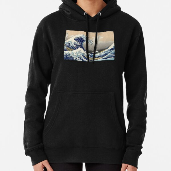 'The Great Wave Off Kanagawa' by Katsushika Hokusai (Reproduction) Pullover Hoodie