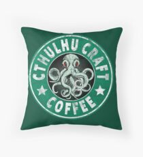 Cthulhu Craft Coffee Throw Pillow