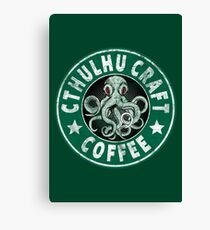 Cthulhu Craft Coffee Canvas Print