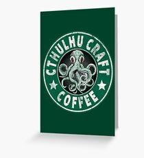 Cthulhu Craft Coffee Greeting Card