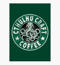 Cthulhu Craft Coffee Photographic Print