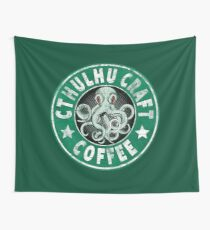 Cthulhu Craft Coffee Wall Tapestry