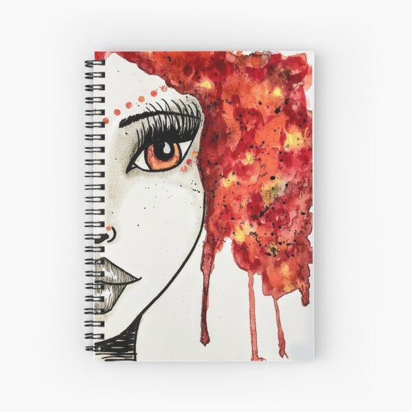 Girl on Fire Goddess Girl  Spiral Notebook
