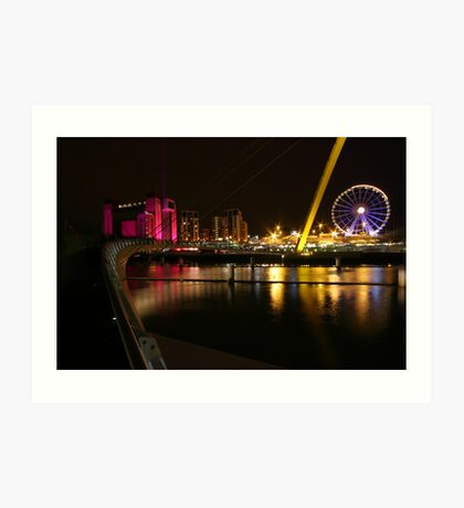 Newcastle nightscape Art Print