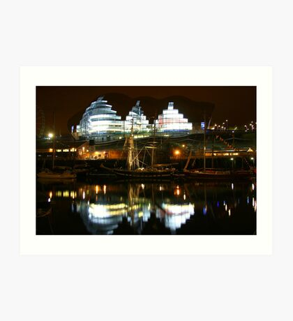 Reflections on River Tyne Art Print