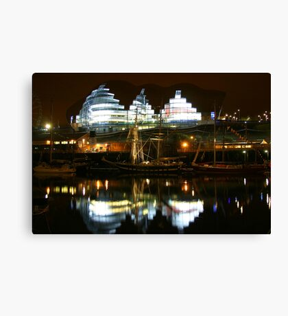 Reflections on River Tyne Canvas Print