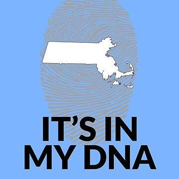 Massachusetts DNA Shirt for People from Massachusetts by TrndSttr