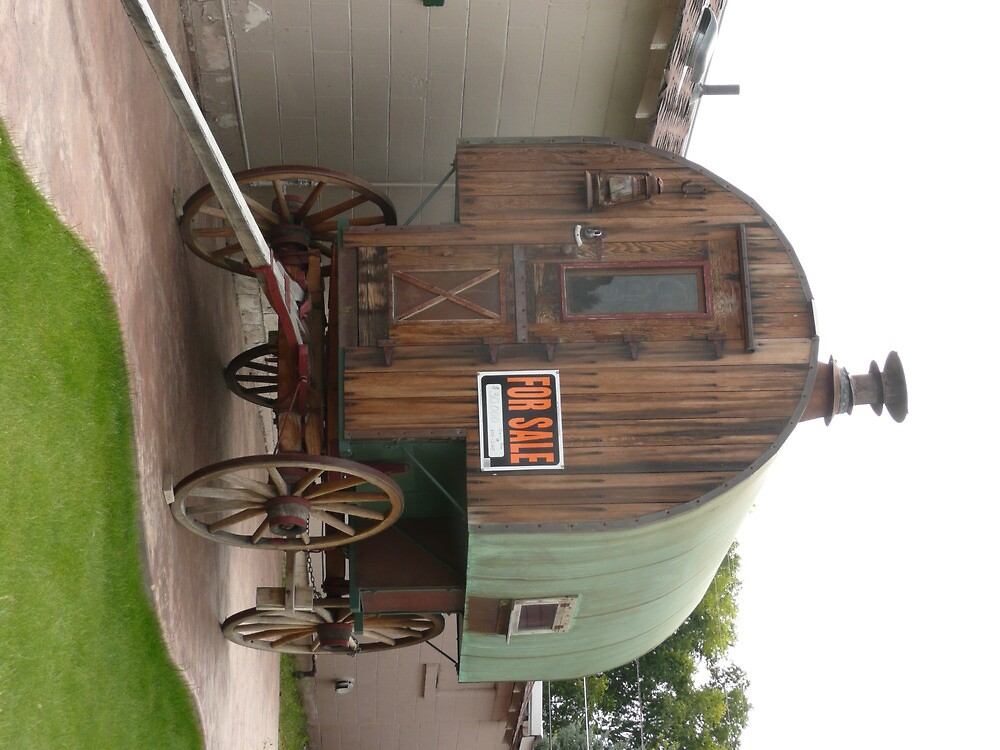 "Old Sheep Wagon For Sale In Cheyenne, U.S.A."" By Mywildscapepics"
