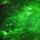 North America Nebula Infrared Enhanced Green by sandyspider