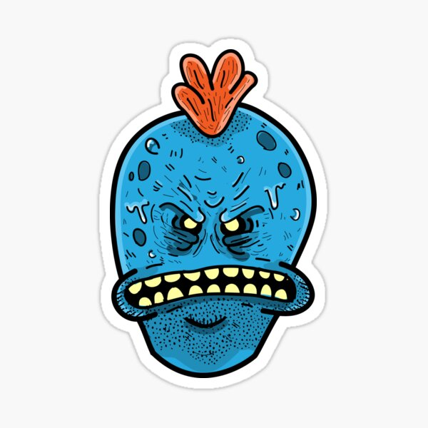 Rick and Morty : I'm Mr.Meeseeks Look at Me  Sticker