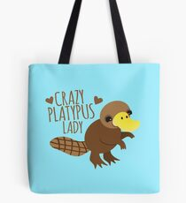 Crazy Platypus lady Tote Bag