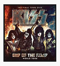 KISS END OF THE ROAD TOUR 2019 Photographic Print