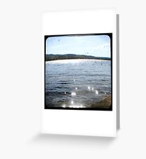 Vintage, Lake through the Viewfinder Greeting Card