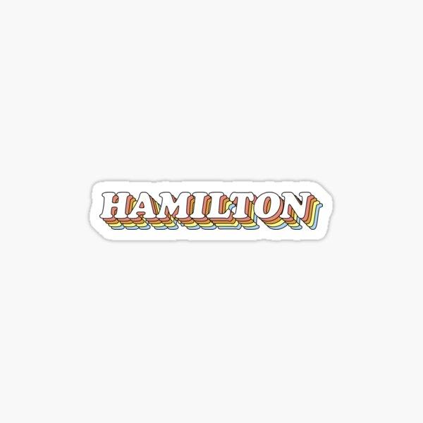 3D Rainbow Retro Hamilton Sticker