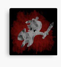 The Minish Brush Red Canvas Print