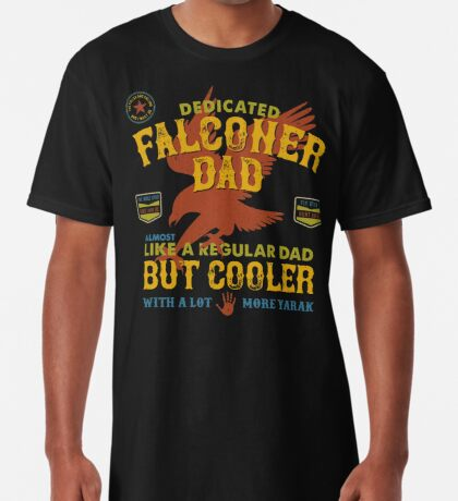Fun Falconry Dad Gifts and Clothing Falcon Hawking Fathers and Falconry Dads Long T-Shirt
