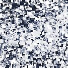 geometric square pattern abstract background in black and white by Mrvell