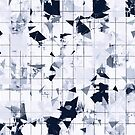 geometric square pattern in black and white by Mrvell