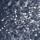 geometric square pixel pattern abstract background in black and white by Mrvell