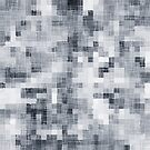geometric square pixel pattern abstract in black and white by Mrvell