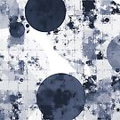 geometric circle pattern abstract background in black and white by Mrvell