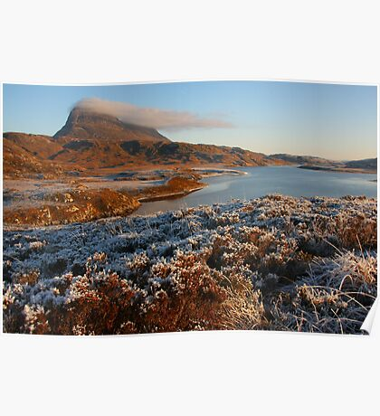 Mount Suilven with a beard of clouds Poster