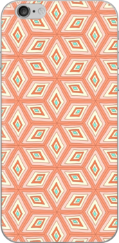 Cubed Living Coral Color Pattern