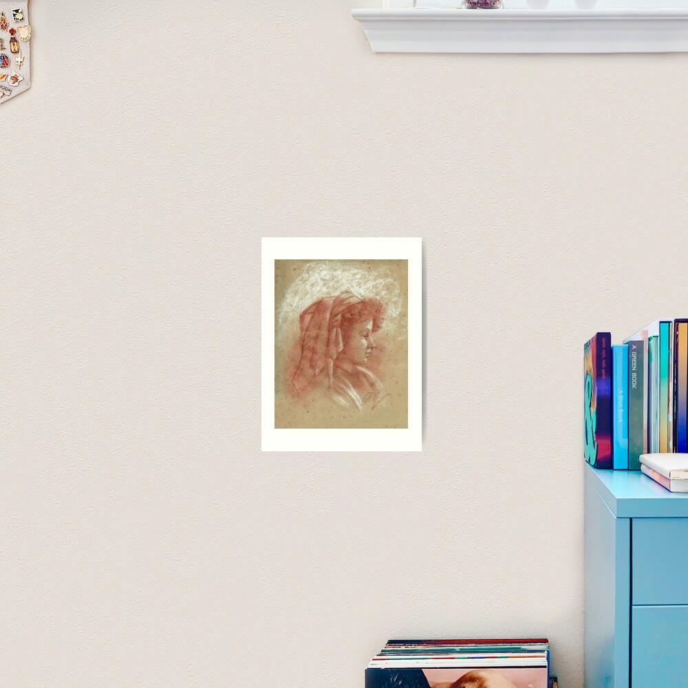 Impression artistique «Portrait d'une jeune fille (2)»