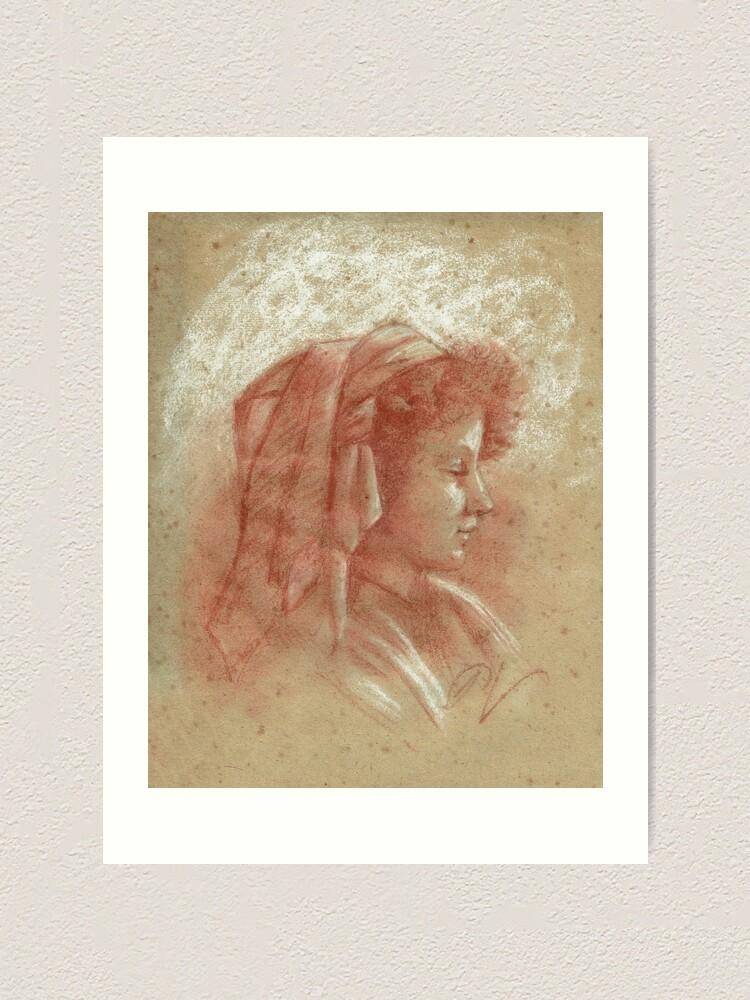 Impression artistique ''Portrait d'une jeune fille (2)': autre vue