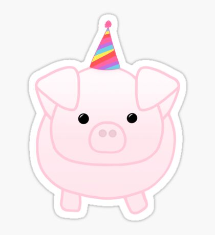PIG Birthday - Happig birthday - Pun - Party - Gift - Present - Party Pig - Hog - Cute - Fun  Sticker