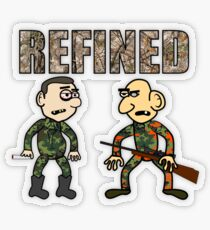 Lonny and Glasseye on the Hunt Transparent Sticker