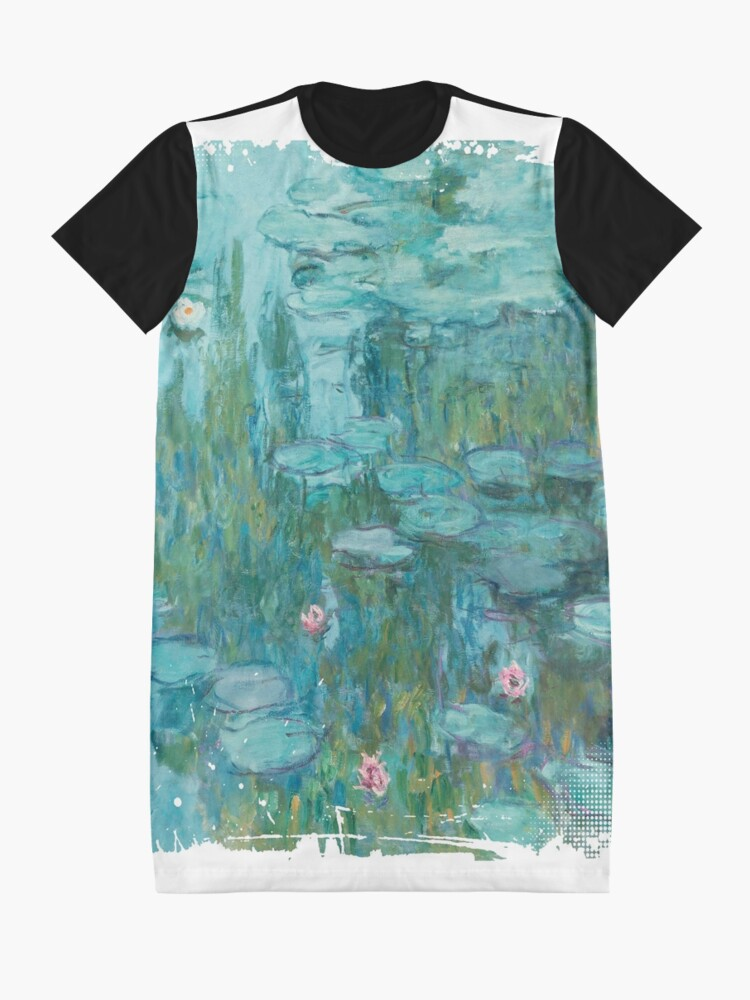 Alternate view of Water Lilies, c. 1915- Claude Monet Graphic T-Shirt Dress