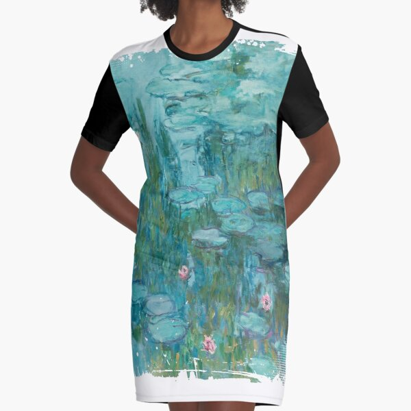 Water Lilies, c. 1915- Claude Monet Graphic T-Shirt Dress