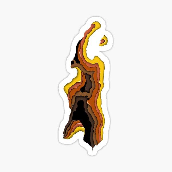 Illusion d'optique 'Couleurs d'automne' Sticker