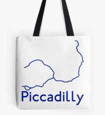 London Underground Piccadilly Line Map Tote Bag