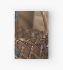Kitten in a basket Hardcover Journal