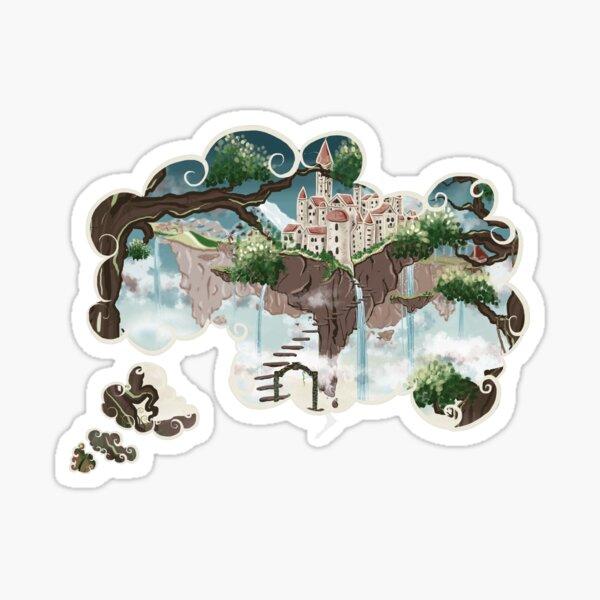 Monde imaginaire 'Les îles flottantes' Sticker