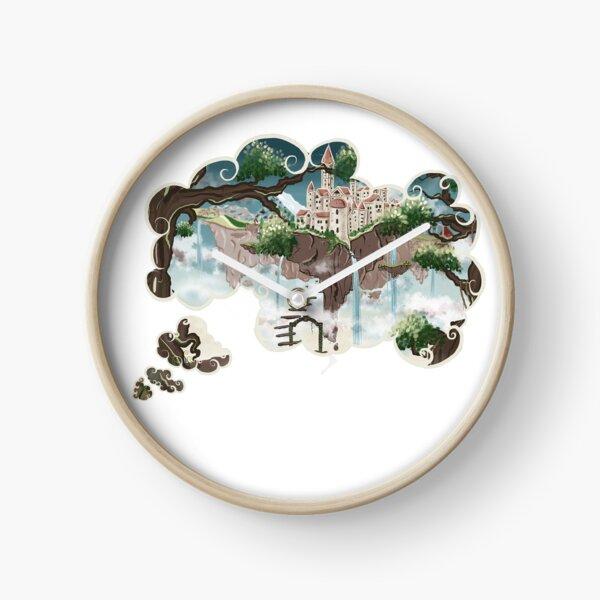 Monde imaginaire 'Les îles flottantes' Horloge