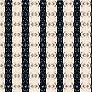 Black and Cream Mudcloth Inspired Medallion Stripe Pattern by SandAndChi