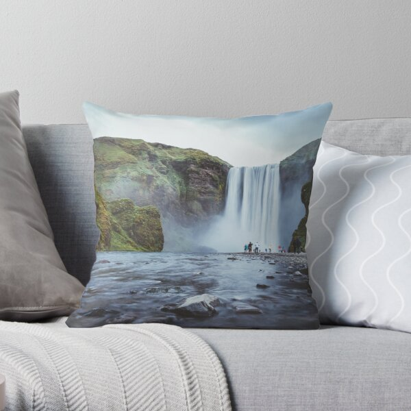 Skogafoss Iceland Dekokissen