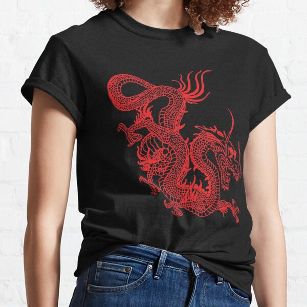 Red Chinese Dragon Classic T-Shirt
