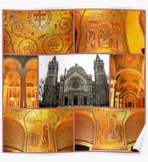 Mosaics in the Cathedral Basilica - Please view large Poster