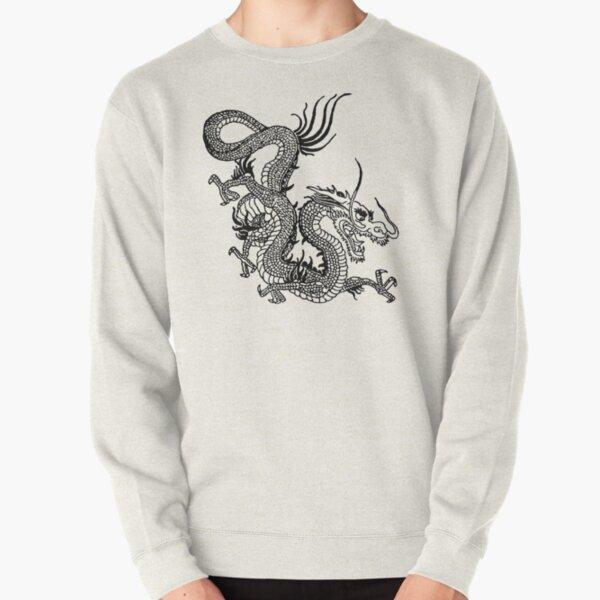 Black Chinese Dragon Pullover Sweatshirt