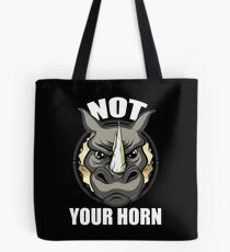 VeganChic ~ Not Your Horn Tote Bag