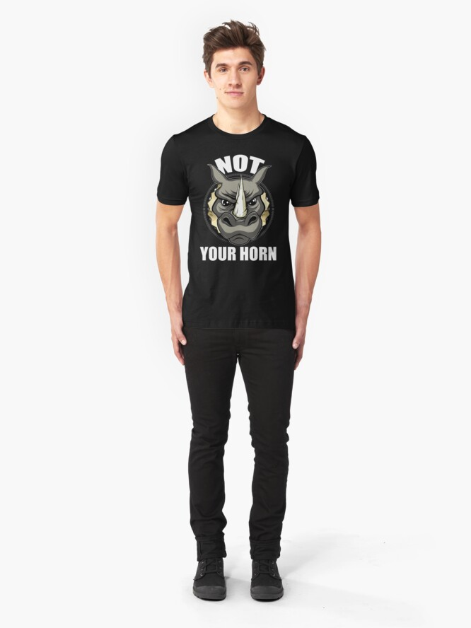 Alternate view of VeganChic ~ Not Your Horn Slim Fit T-Shirt