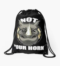 VeganChic ~ Not Your Horn Drawstring Bag