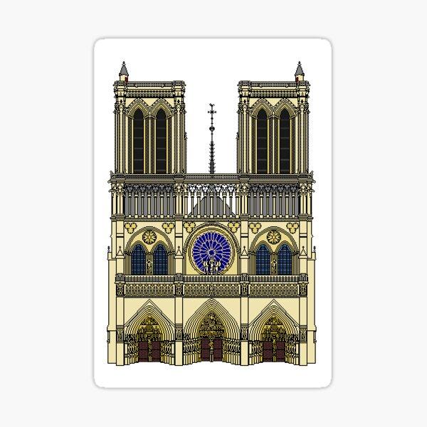Notre Dame de Paris avant l'incendie Sticker