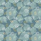 Flutter pattern in blue  by SueHalstead